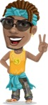 Street Gangster Cartoon Vector Character AKA Jay A - Sunglasses 1
