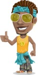Street Gangster Cartoon Vector Character AKA Jay A - Sunglasses 2