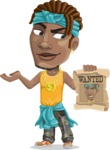 Street Gangster Cartoon Vector Character AKA Jay A - Wanted