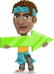 Street Gangster Cartoon Vector Character AKA Jay A - Arrow 2