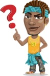 Street Gangster Cartoon Vector Character AKA Jay A - Question