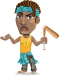 Street Gangster Cartoon Vector Character AKA Jay A - Broken