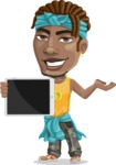 Street Gangster Cartoon Vector Character AKA Jay A - Tablet 1