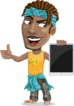 Street Gangster Cartoon Vector Character AKA Jay A - Tablet 2