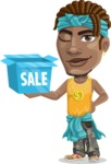 Street Gangster Cartoon Vector Character AKA Jay A - Sale 2