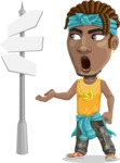 Street Gangster Cartoon Vector Character AKA Jay A - Crossroad