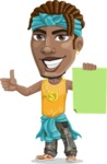 Street Gangster Cartoon Vector Character AKA Jay A - Sign 2