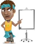 Street Gangster Cartoon Vector Character AKA Jay A - Presentation 2