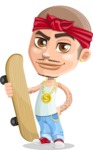 Chino Troublelino Gangster Man - Skateboard