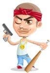 Chino Troublelino Gangster Man - Gun and Bat