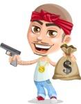 Chino Troublelino Gangster Man - Gun and money