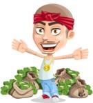 Chino Troublelino Gangster Man - Stacks of money