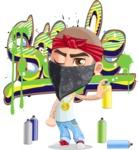 Chino Troublelino Gangster Man - Graffiti
