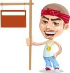 Chino Troublelino Gangster Man - Street Sign