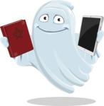 Cute Ghost Cartoon Vector Character AKA Boo Transparento - Choosing Between Modern and Oldschool