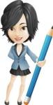 Zara as Miss Mini Skirt - Pencil
