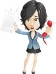Zara as Miss Mini Skirt - Office Fever