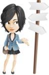 Zara as Miss Mini Skirt - Crossroad