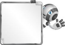 Housekeeping Robot Cartoon Vector Character AKA Glossy - Presentation 2