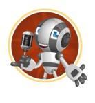 Housekeeping Robot Cartoon Vector Character AKA Glossy - Shape2