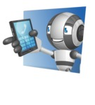 Housekeeping Robot Cartoon Vector Character AKA Glossy - Shape3