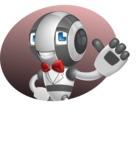 Housekeeping Robot Cartoon Vector Character AKA Glossy - Shape4