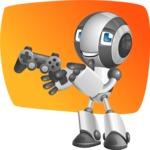Housekeeping Robot Cartoon Vector Character AKA Glossy - Shape5
