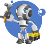 Housekeeping Robot Cartoon Vector Character AKA Glossy - Shape8