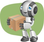 Housekeeping Robot Cartoon Vector Character AKA Glossy - Shape11