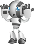 Housekeeping Robot Cartoon Vector Character AKA Glossy - Confused