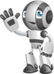 Housekeeping Robot Cartoon Vector Character AKA Glossy - Goodbye