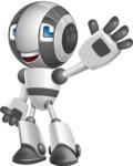Housekeeping Robot Cartoon Vector Character AKA Glossy - Hello