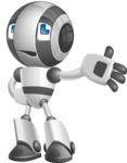 Housekeeping Robot Cartoon Vector Character AKA Glossy - Bored