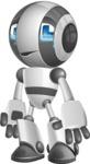 Housekeeping Robot Cartoon Vector Character AKA Glossy - Sad