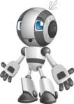 Housekeeping Robot Cartoon Vector Character AKA Glossy - Shocked