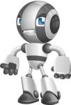 Housekeeping Robot Cartoon Vector Character AKA Glossy - Angry