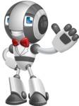 Housekeeping Robot Cartoon Vector Character AKA Glossy - Gentleman