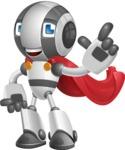 Housekeeping Robot Cartoon Vector Character AKA Glossy - Super Robot