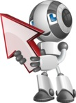 Housekeeping Robot Cartoon Vector Character AKA Glossy - Arrow