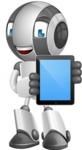 Housekeeping Robot Cartoon Vector Character AKA Glossy - iPad 1
