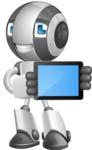 Housekeeping Robot Cartoon Vector Character AKA Glossy - iPad 2