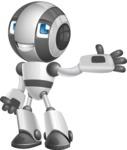 Housekeeping Robot Cartoon Vector Character AKA Glossy - Showcase