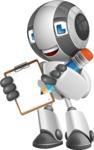 Housekeeping Robot Cartoon Vector Character AKA Glossy - Notepad