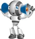 Housekeeping Robot Cartoon Vector Character AKA Glossy - Listen