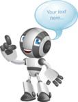Housekeeping Robot Cartoon Vector Character AKA Glossy - Bubble