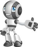 Housekeeping Robot Cartoon Vector Character AKA Glossy - Show
