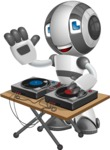 Housekeeping Robot Cartoon Vector Character AKA Glossy - DJ