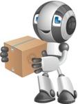 Housekeeping Robot Cartoon Vector Character AKA Glossy - Delivery 1