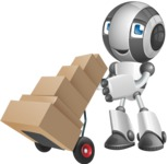 Housekeeping Robot Cartoon Vector Character AKA Glossy - Delivery 2