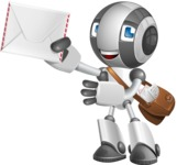 Housekeeping Robot Cartoon Vector Character AKA Glossy - Delivery 3